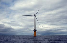 Hywind on location off the coast of Norway. (Photo: Trude Refsahl / Statoil)