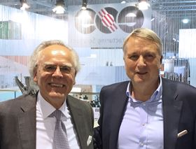 Dr Hans J. Langer, founder and CEO of EOS (left) and Dr Peter Oberparleiter, CEO GKN Powder Metallurgy (right).