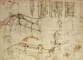 Leonardo da Vincis design for a flying machine (c. 1488) was inspired by the flight of bats.