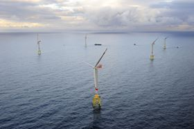 The UK could ultimately see much more of this in its waters: the image shows Germany's first offshore wind farm alpha ventus. The facility was built by EWE, E.ON and Vattenfall in the consortium DOTI (Deutsche Offshore-Testfeld- und Infrastruktur Gesellschaft GmbH) at a cost of €250 million.