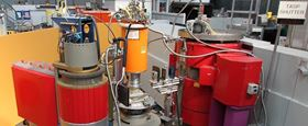 This shows the neutron spectrometer used in the study. Photo: EPFL/PSI.