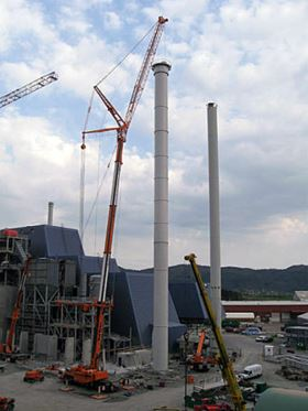 A waste-to-energy incineration plant in Norway is employing composite chimney liners manufactured by Tunetanken AS of Denmark using AOC's Vipel vinyl ester resin.