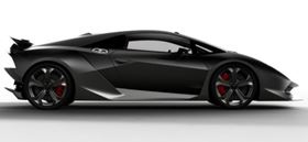 Lamborghini's Sesto Elemento carbon fibre technology demonstrator is based around a carbon fibre monocoque passenger cell manufactured in a one-shot process. The crash boxes, exterior panels, major suspension components, the wheels and the drive shaft are all made of CFRP.