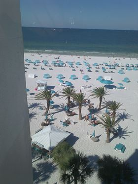 View from the Hotel in Clearwater