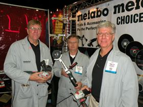 Tool Time! Metabo's Jeffrey Hartill (left), Ron Finley (center), and Terrence Tuerk know a thing or two about grinders, abrasives, and power equipment.