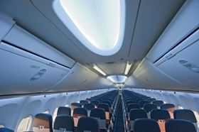 Pictured here is the new 737 Boeing Sky Interior shown in TUIfly's new Next-Generation 737.