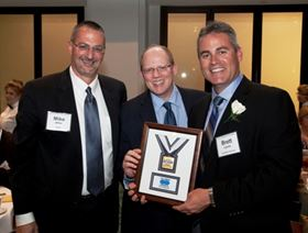 Columbia Chemical among recipients of the 2013 Leading EDGE Awards. Pictured (from left): Mike Miller of EDGE with Kevin Reilley, V.P. of Operations, and Brett Larick, President of Columbia Chemical.