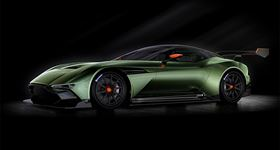 The Aston Martin Vulcan sports car features a carbon fibre monocoque and body.