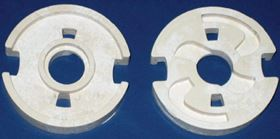 Figure 5. Experimental sample parts of a car braking system made by  ceramic  injection moulding of alumina-based  ceramics.