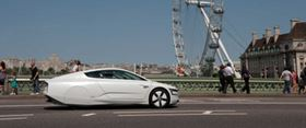"Volkswagen's XL1 two-seat plug-in hybrid made its UK debut in July. Described as ""the most fuel-efficient production