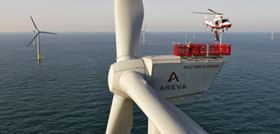 The Areva-Multibrid has been installed at the alpha ventus wind farm. Copyright: AREVA Multibrid/Jan Oelker 2010.