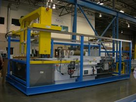 Automatic solar panel plating line.