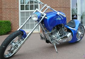 Lincoln Composites manufactured the composite fuel tank for the bike.