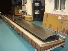 Prior to bonding the Cranfield team 'dry' assembled the prototype sail spars and skins on the skin mould