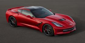 The 2014 Corvette Stingray debuted at the North American International Auto Show in Detroit, Michigan. (Click to enlarge image.) (Picture © John F. Martin for Chevrolet.)