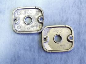 "Figure 1: Magnesium alloy ""AZ91D"" before (top) and after (bottom) plating with electroless nickel."