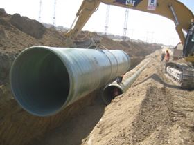 The low weight of GRP pipe reduces the size of the lifting equipment required, lowering installation costs.