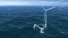 The WindFloat platform was conceived by Marine Innovation & Technology and is owned by Principle Power.