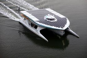 The TÛRANOR PlanetSolar catamaran will set off on its voyage around the world early next year. (Pictures courtesy of Sascha Klahn/Knierim-Yachtbau.de.)