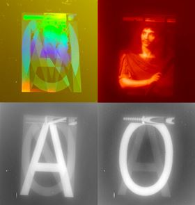 Encoding images in infrared signals using metasurfaces. Image courtesy of Mathilde Makhsiyan/ONERA