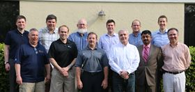 IHEA 2015-2016 officers and board members: Back row left to right  B.J. Bernard, Jay Cherry, Michael Stowe, Jeff Valuck, John Stanley, and Aaron Zoeller. Front row left to right  John Podach, Scott Schindlbeck, Tim Lee, Francis Liebens, KK Tiwari, and Daniel Llaguno.