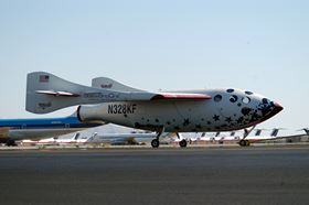 SpaceShipOne was Earth's first privately funded manned spacecraft.