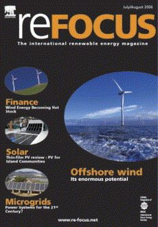 Refocus magazine covers the renewable energy sector.