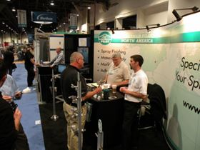 Bill and Brendan Johnsee manning the Walther Pilot booth in the Finishing Pavilion at FABTECH.