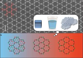 A novel synthetic material made from 1 billion tiny magnets in a honeycomb pattern undergoes phase transitions as the temperature changes, similar to the way water can switch between gaseous, liquid and solid states.