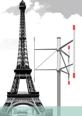 The VertAx wind turbine. Image courtesy of VertAx Wind ltd.