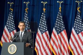 In his inaugural speech, Obama said he would double the production of alternative energy in the next three years.