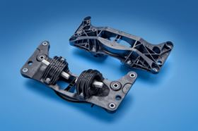 Engine mounts moulded from a 50% glass reinforced Ultramid polyamide provides weight savings of up to 50% over traditional steel or aluminium mounts.