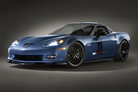 The 2011 Corvette Z06 Carbon Limited Edition makes abundant use of CFRP components to reduce the weight of the sports car.