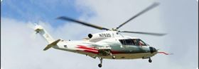 The Sikorsky S-76D features composite main rotor blades and composite tail rotor blades.