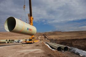 Subor is currently supplying GRP pipes of 4 m in diameter to the 'Kralkizi Dicle Main Channel Second Part Irrigation Project' in Turkey. The pipes are manufactured using a continuous filament winding process.