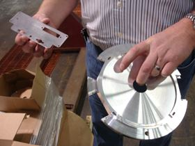 Chromate conversion on aluminum is another one of the company's specialty services.