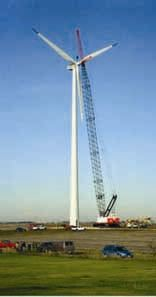 Figure 1: Large wind turbine installation