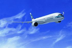 Cathay Pacific Airways has ordered 30 A350 XWB long range aircraft. (Picture © Airbus S.A.S./computer rendering by Fixion.)