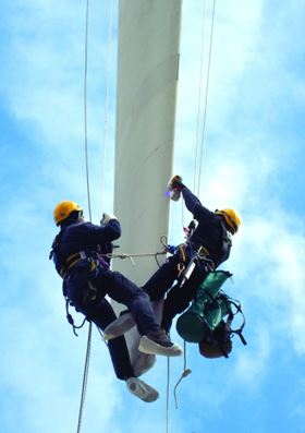 RENUVO repairs can be carried out from rope or platform access.