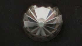 A diamond in the anvil used by the scientists to make nano-sized Lonsdaleite. Photo: Jamie Kidston, ANU.