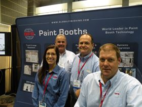 From left: Global Finishing Solutions' Melissa Fochs, Mike Snow, Marty Powell, and Jon Huth.