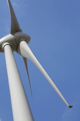 Turbine blades are currently based on thermoset resin technology. (Picture © Joe Gough. Under under license from Shutterstock.com.)