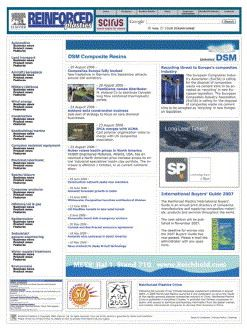 The new-look Reinforced Plastics website went live in January 2007.