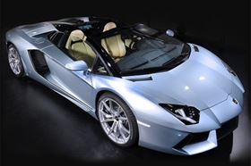 The Lamborghini Aventador LP 700-4 Roadster.