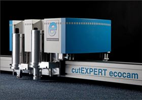 Expert Systemtechnik's new cutEXPERT ecocam single-ply cutter.