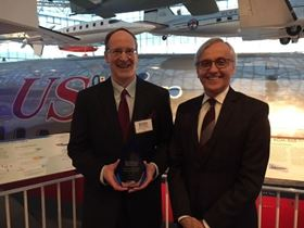 CRTC chief operations officer Dave Walter receives the Silver Award for Sustainability