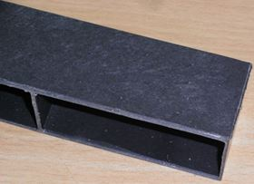 Under floor vent from Hambleside Danelaw. Typically made from PP, but this one is 100% recycled with glass fibres from ground GRP recyclate and in-house PP waste, resulting in a stiffer, stronger product with no increase in cost. (Picture © Stella Job.)