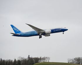 Boeing's highly anticipated 787 Dreamliner took to the sky for the first time on Tuesday, Dec. 15, in Everett. Wash.
