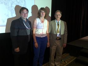 Left to right: Prof. Peter Hosemann, Dr Christine Guéneau, Dr Lou Mansur
