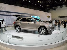 GM's Chevy Equinox is just one of several models targeted for a production ramp up. (Photo courtesy of Metal Finishing magazine, taken at the 2009 New York Auto Show.)
